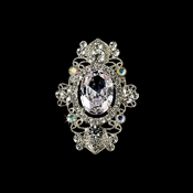 Beautiful Silver Clear AB Rhinestone Brooch 935