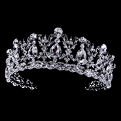 Beautiful sparkling vintage rhinestone & cz bridal tiara HP 22260