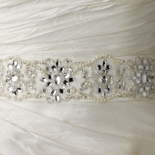 Belt or Headband 204 with Pearls, Beads & Sequins