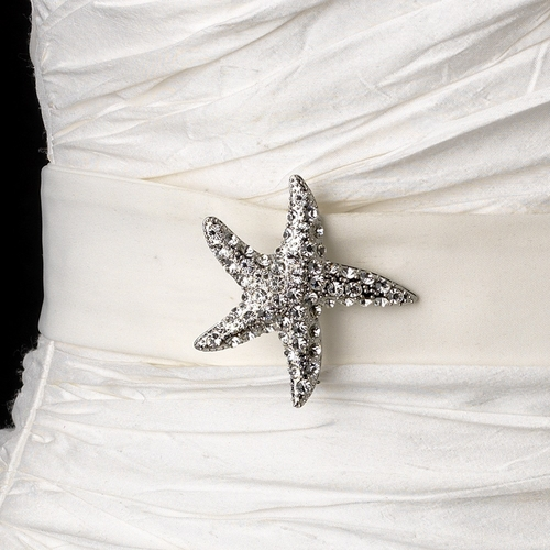 Belt with Crystal Starfish Brooch 93