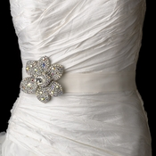 Belt with Marquise AB Crystal & Rhinestone Brooch 8798