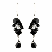Black Austrian Crystal Earrings 8259