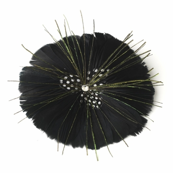 * Black Feather Brooch 132