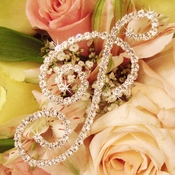 Bouquet Crystal Jewelry Letters