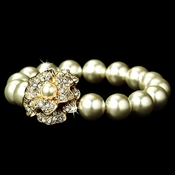 Gourgeous Gold Ivory Pearl Bracelet B 1023