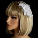 * Bridal Feather Fascinator on Headband HP 8216
