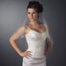 Bridal Wedding Double Layer Veil with Beaded Sequence Edge Fingertip Length Veil 1531 F