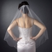 Bridal Wedding Single Layer Fingertip Edge Veil 114 1F