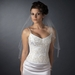 Bridal Wedding Single Layer Elbow Length Scalloped Veil 124 1E