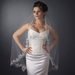 Bridal Wedding Single Layer Waltz Length, Couture Embroidery Veil 3286