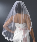 "Bridal Wedding Veil 1571 - Single Layer, Fingertip Length (36"" long x 51"" wide)"