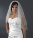 "Bridal Wedding Veil Two Layer Elbow Length w/AB Swarovski Crystal Edge (25""x30"") Veil 350 E"