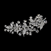 Brooch 18 Antique Silver Rhinestone Leafy Grapevine