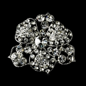 Brooch 62 Antique Silver Clear