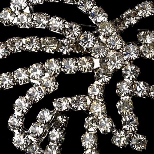 * Brooch 75 Antique Silver Clear