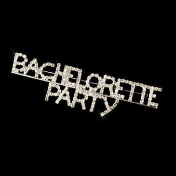 * Brooch 9003 Bachelorette Party in Silver with Rhinestones