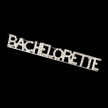 * Brooch 9006 Bachelorette Silver with Rhinestones