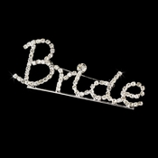 * Brooch 9007 Bride Silver with Rhinestones