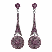 * Captivating Modern Amethyst Crystal Earrings E 942