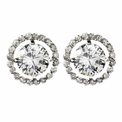 Captivating Silver Clear CZ Stud Earrings 2288