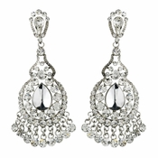 Clear Crystal Bridal Chandelier Earrings E 989