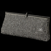 Clear Rhinestone Covered Black Evening Bag 337
