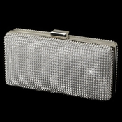 Clear Rhinestone Covered Silver Evening Bag 335***Discontinued***