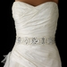 Floral Embroidered Pearl, Rhinestone & Bead Wedding Sash Belt 204