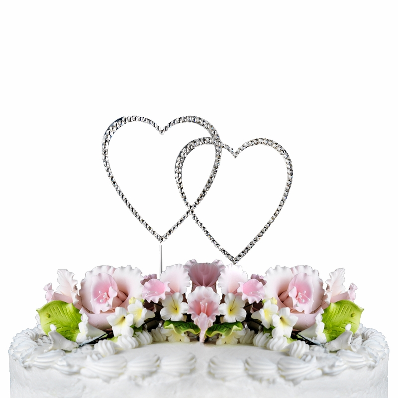 Completely Covered ~ Swarovski Crystal Wedding Cake Topper ~ Double ...