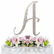 Completely Covered ~ Swarovski Crystal Wedding Cake Topper ~ Letter A ~ Gold
