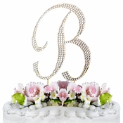 Completely Covered ~ Swarovski Crystal Wedding Cake Topper ~ Letter B ~ Gold