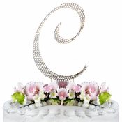 Completely Covered ~ Swarovski Crystal Wedding Cake Topper ~ Letter C ~ Gold