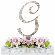 Completely Covered ~ Swarovski Crystal Wedding Cake Topper ~ Letter G ~ Gold