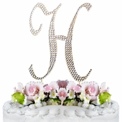 Completely Covered ~ Swarovski Crystal Wedding Cake Topper ~ Letter H ~ Gold