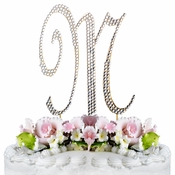 Completely Covered ~ Swarovski Crystal Wedding Cake Topper ~ Letter M ~ Gold