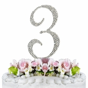 Completely Covered ~ Swarovski Crystal Wedding Cake Topper ~ Number 3