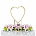 Completely Covered ~ Swarovski Crystal Wedding Cake Topper ~ Single Small Gold Heart