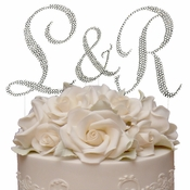 Completely Covered ~ Swarovski Crystal Wedding Cake Toppers ~ Letters