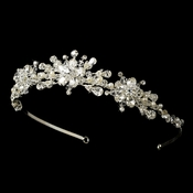 * Crystal and Freshwater Pearl Tiara HP 7014