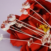 Crystal Bouquet Accents (set of 10) Silver or Gold BQ 200