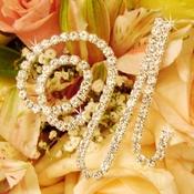 Crystal Rhinestone Bouquet Letters