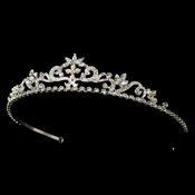 Crystal Bridal Tiara HP 11109 (Silver or Gold)