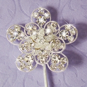 Crystal Flower Cake Accent CJ 3