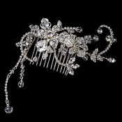 Crystal Glamour Bridal Comb with Dangles