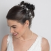 Crystal & Pearl Bridal Flower Hair Vine Headband Headpiece 8453