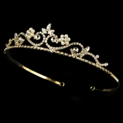 Crystal & Pearl Golden Bridal Tiara HP 6240