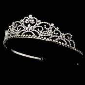 Crystal Princess Bridal Tiara HP 1774 (Silver or Gold)