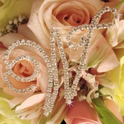 Crystal Rhinestone Letter for Bridal Bouquet or Centerpiece
