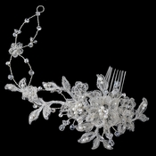 Crystals, Rhinestones & Pearls Floral Lace Comb 4187