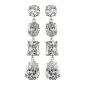 Dazzling Cubic Zirconium Dangling Earrings E 1652